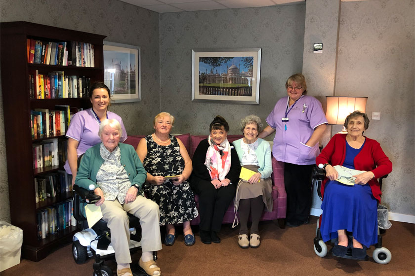Staff and residents at Middleton House