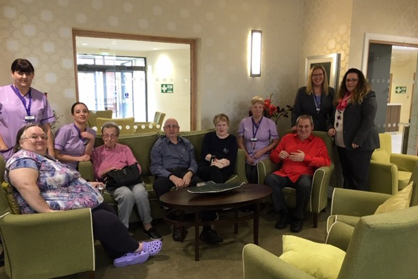 Rose Manor staff and residents celebrate CQC