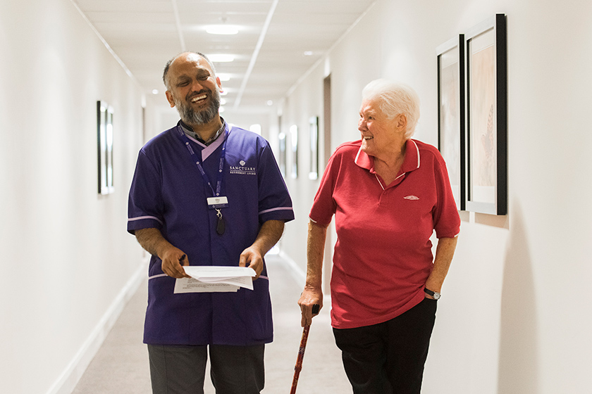 Wimborne House, Staff Abu Aref and Resident Veronica Keating
