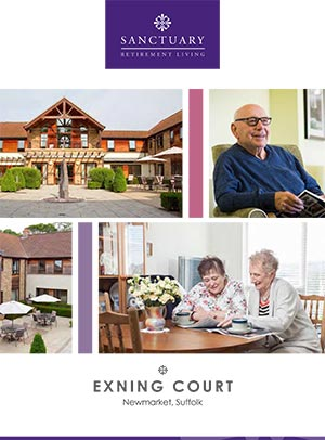 Front cover of Exning Court brochure.