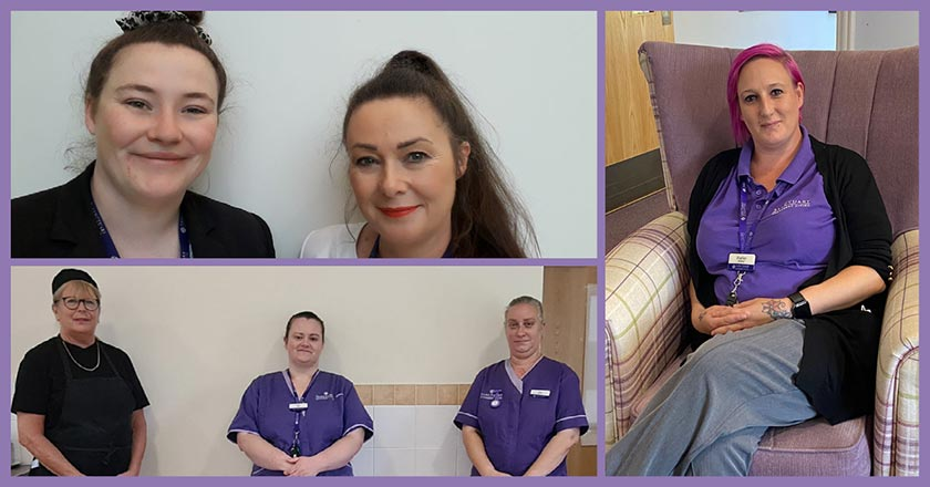 Some of the the staff at Jazz Court and Jubilee Court.
