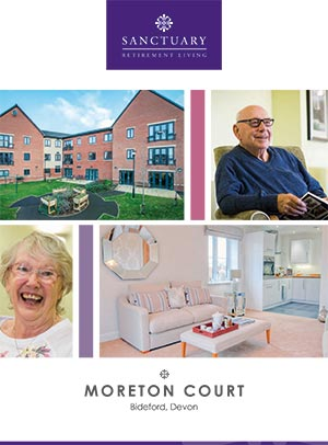 Front cover of Moreton Court brochure.