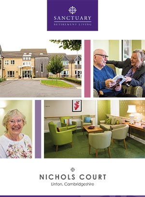 Front cover of Nichols Court brochure.