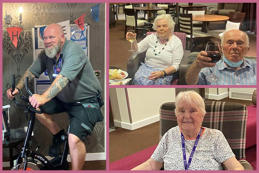 Residents and staff at Middleton House enjoy french week