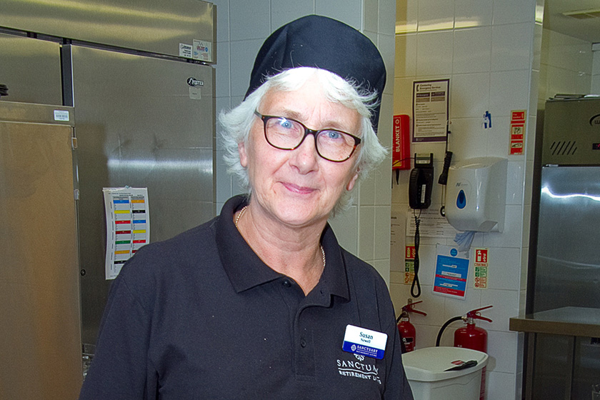 Sue Newell, Assistant Cook at Sanctuary Retirement Living's Baird Lodge in Ely