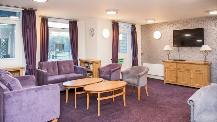 The lounge area at Hillyard House Retirement Living