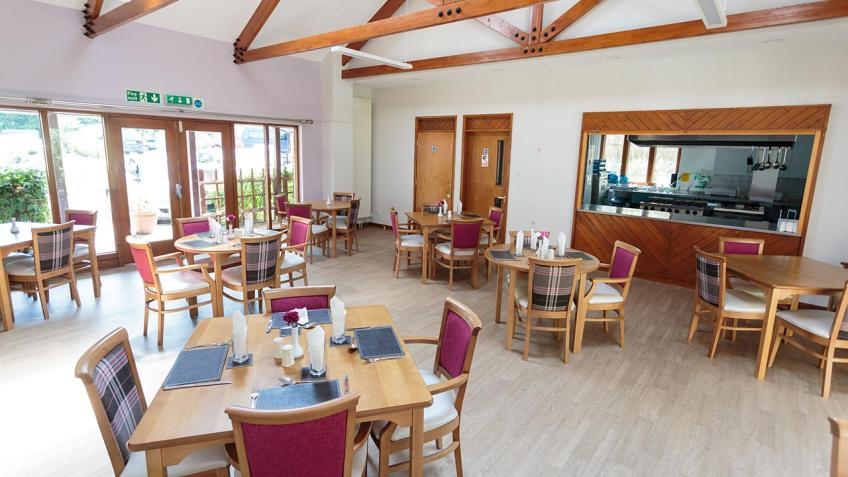 The Taste Restaurant dining area at Elizabeth House.