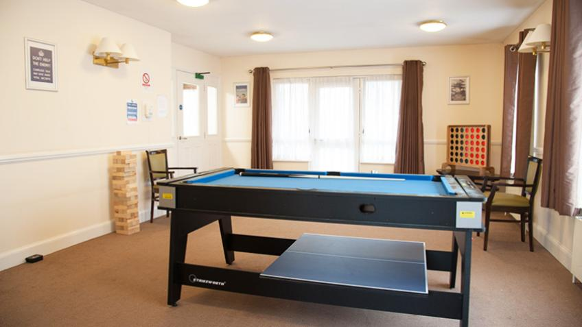 Trellis House communal games room
