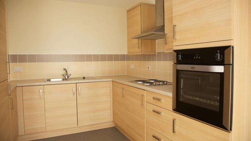 A typical kitchen area in an apartment at Whitley Court