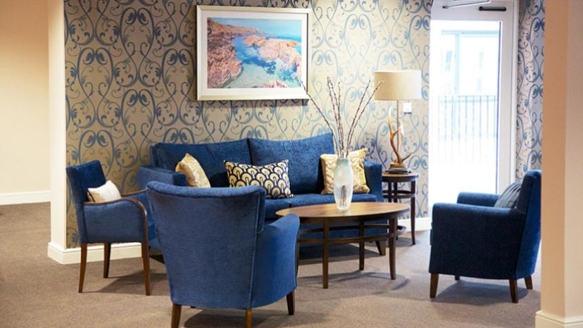 Whitley Court communal lounge area