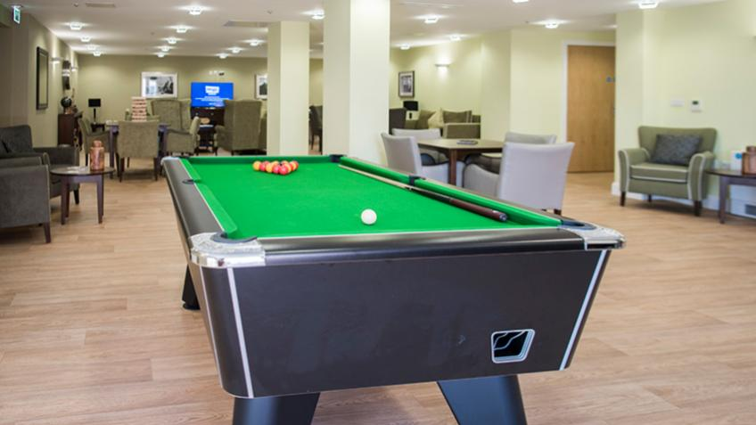 Wimborne House pool table and games room