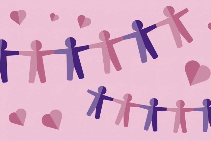 A picture of Valentine's Day and Friendship Day