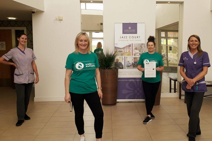A picture of Counting steps to support autism charity