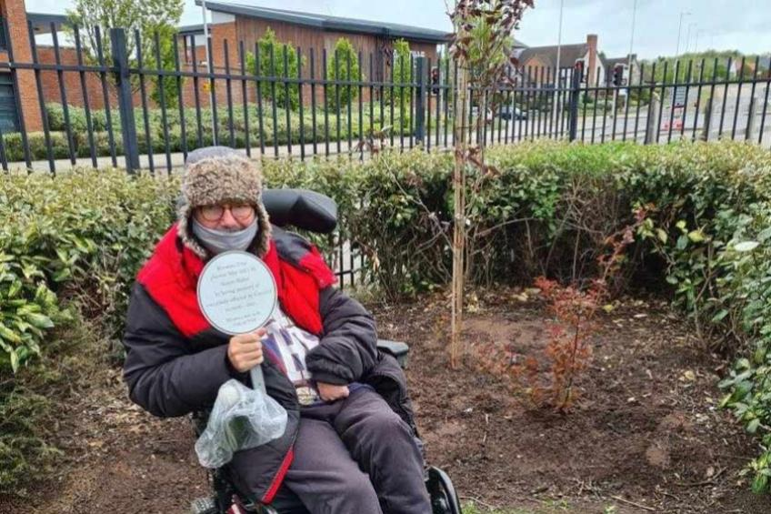 A picture of Resident fundraises for Covid garden memorial