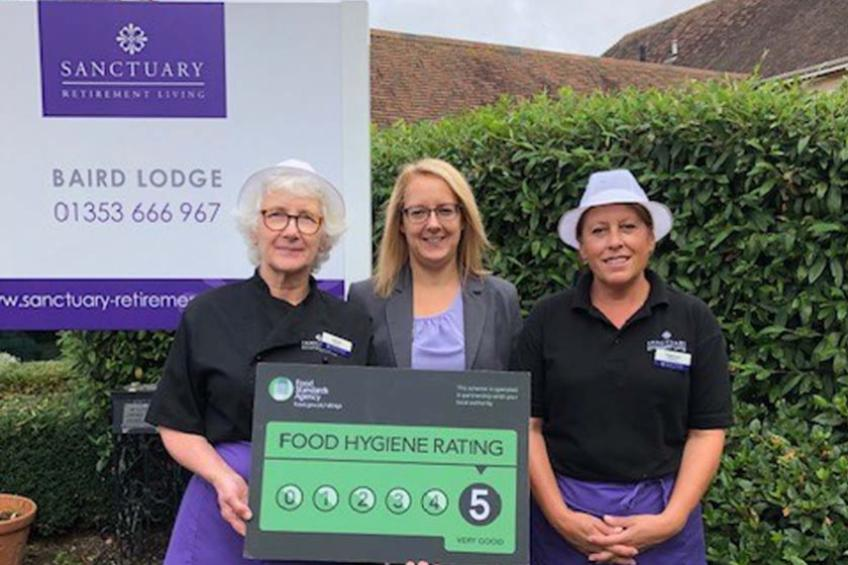 A picture of Five-star food hygiene rating for retirement living service