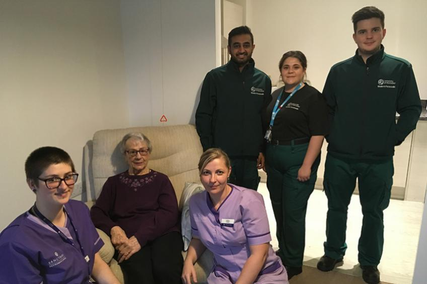 A picture of Sanctuary Retirement Living hosts paramedic students