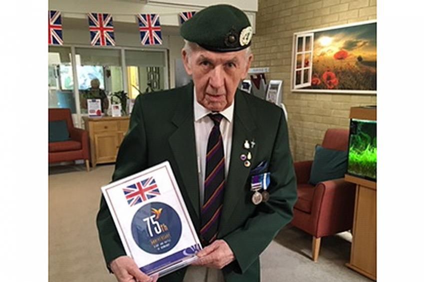 A picture of D-Day landings remembered by veteran