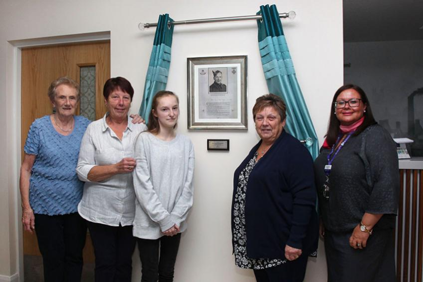 A picture of Actions of local war hero honoured at namesake home