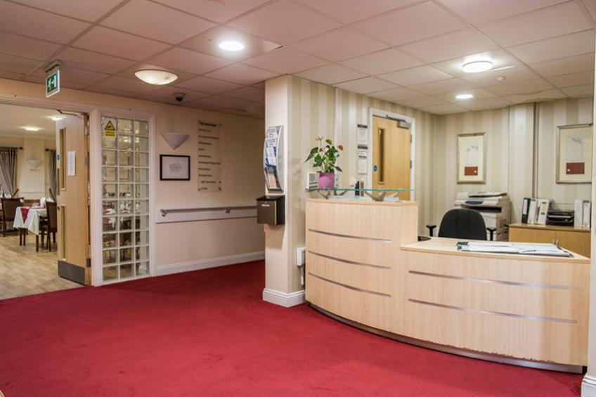 The reception provides added security and peace of mind.