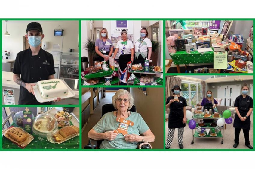 A picture of Sanctuary Retirement Living residents support Macmillan