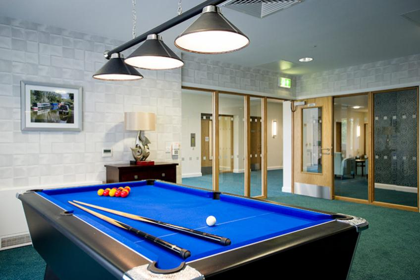 Baskeyfield House pool table in the games room