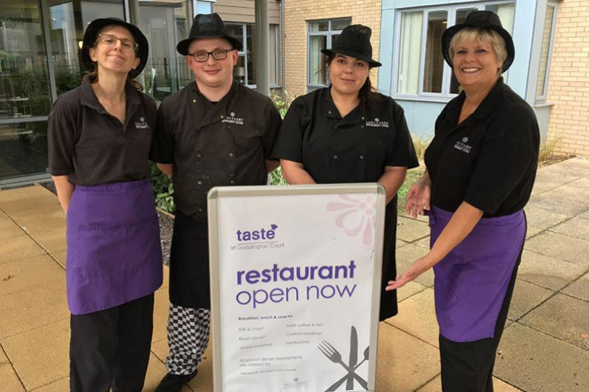 A picture of Doddington retirement community awarded top Hygiene rating