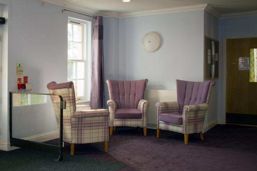 Seating area at Jubilee Court