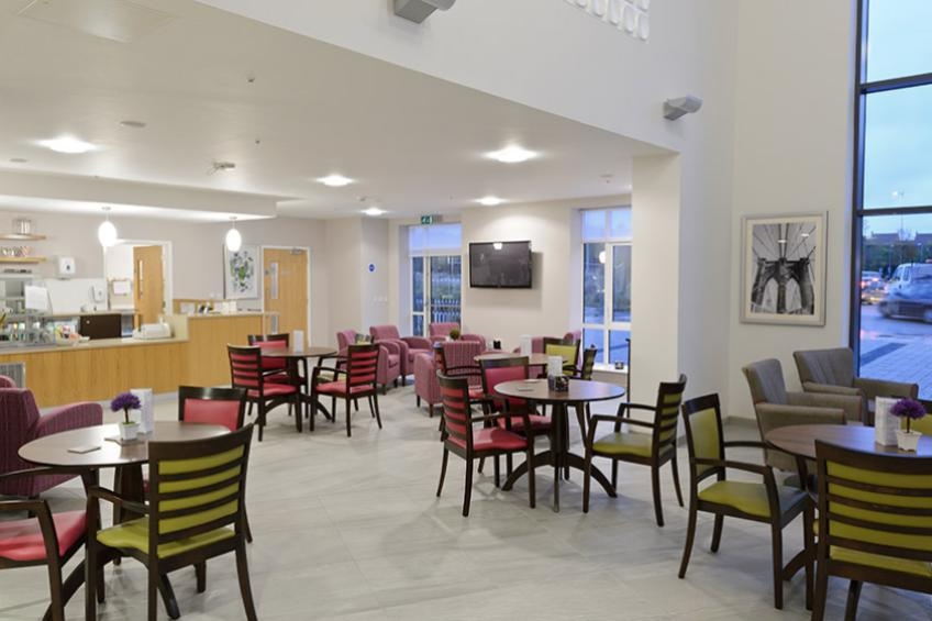 Lawley Bank Court dining area