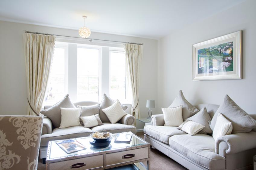 A typical apartment living area at Noble House