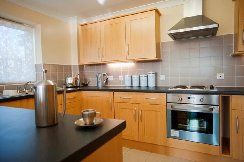 The apartments at Roman Ridge have a fully fitted kitchen.