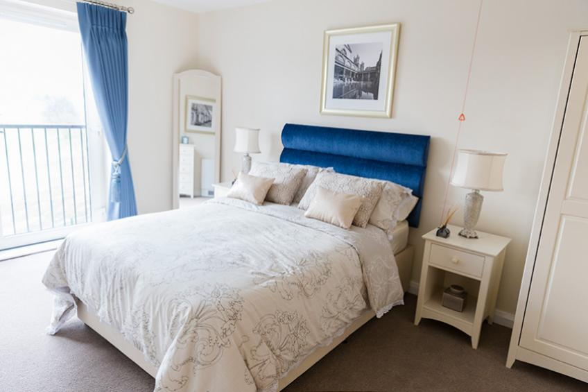 A typical bedroom in an apartment at Wimborne House