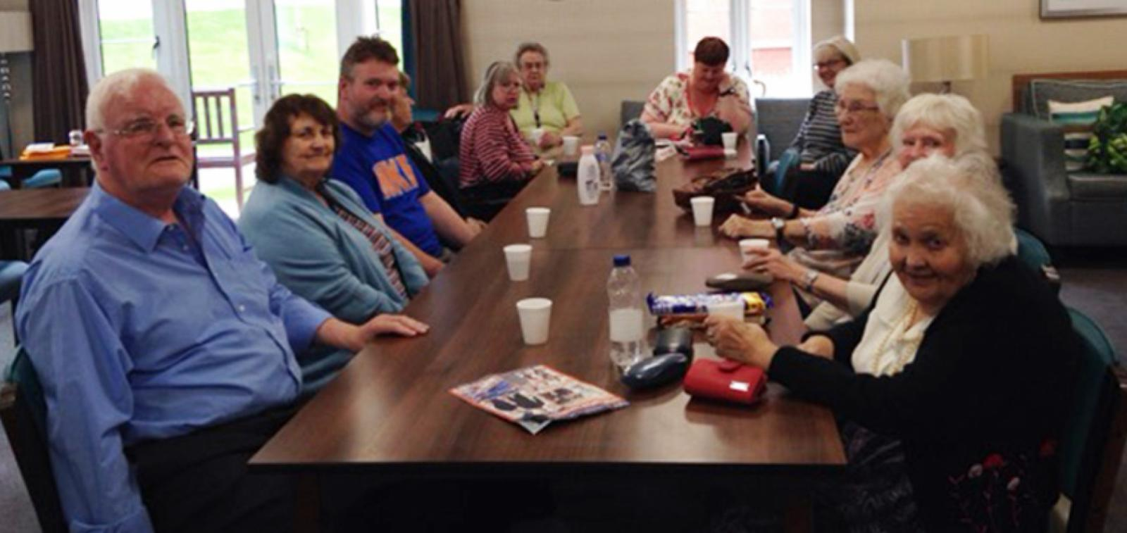 Residents at Moreton Court in Bideford learn about mental wellbeing
